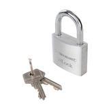 Silverline 352852 Aluminium Padlock 40mm Corrosion-resistant Stainless Steel