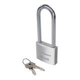 Silverline 622257 Aluminium Padlock 50mm Long Shackle