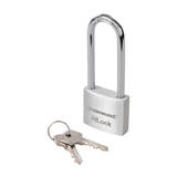 Silverline 674961 Aluminium Padlock 40mm Long Shackle