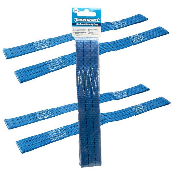 2 x Silverline 922260 Tie-Down Securing Loop 450mm Thumbnail 1