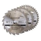 Silverline 590591 TCT Circular Saw Blades 3pk 190mm 30mm 20 & 25mm - Second