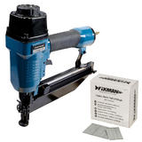 Silverline 64mm Air Finishing Nailer with 2500pk of 38 x 1.55mm 16 Gauge Nails