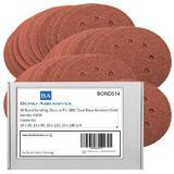 40 Assorted Bond Sanding Sheets 125mm For GMC 920595 Dual Base Random Orbit Sander