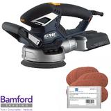 GMC Dual Base Random Orbit Sander 430W with 40 Mixed Grit Bond Sanding Discs 150mm