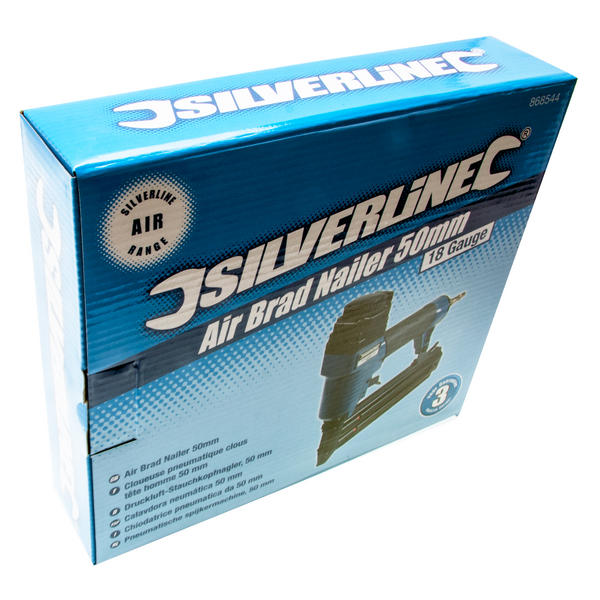 Silverline 868544 Air Brad Nailer 50mm with 5,000 Galvanised smooth shank nails Thumbnail 4