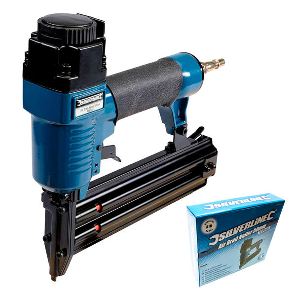 Silverline 868544 Air Brad Nailer 50mm with 5,000 Galvanised smooth shank nails Thumbnail 2