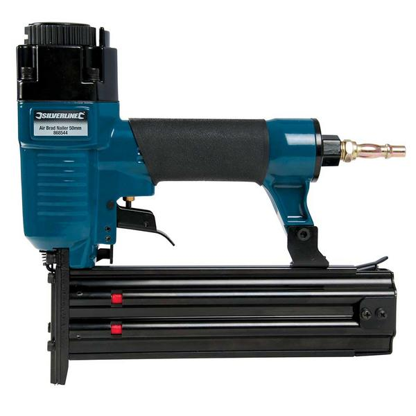 Silverline 868544 Air Brad Nailer 50mm with 5,000 Galvanised smooth shank nails Thumbnail 3