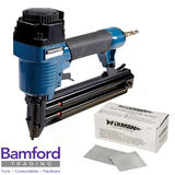 Silverline 868544 Air Brad Nailer 50mm Kit with 5,000 Fixman 353998 50mm Nails