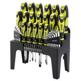 Draper 44 Piece Screwdriver/Hex Key/Bit Set with Stand and 3 Piece Pliers Set