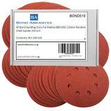 40 Bond Sanding Discs For Makita DB0180Z 125mm Random Orbit Sander 240 Grit