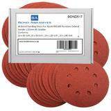 40 Bond Sanding Discs For Ryobi R0S300 Random Orbital Sander 125mm All Grades