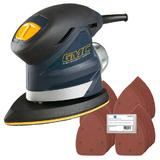 GMC 920287 Detail Sander 130W Kit with 50 Sanding Sheets (Mixed Grit)