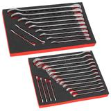 Sealey Premier Cold Stamped Combination Spanner Sets Metric/Imperial & Eva Trays