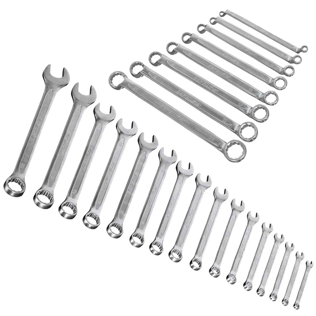 8 Piece Sealey AK63257 Offset Double End Ring Spanner Set Metric in EVA Tray