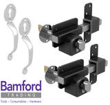 Gatemate 50mm High Security Euro Lock for Garden Gate & Chrome Handle