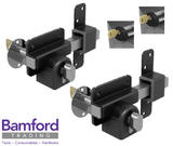 Gatemate 70mm High Security Euro Lock for Garden Gate with Escutcheon