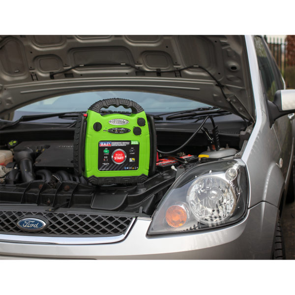 Sealey RS1322HV Roadstart Emergency Power Pack 900 Peak Amps with Air Compressor Thumbnail 5
