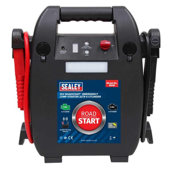 Sealey RS1B RoadStart Emergency Jump Starter 12V 2 Litre 4 Cylinder Thumbnail 2