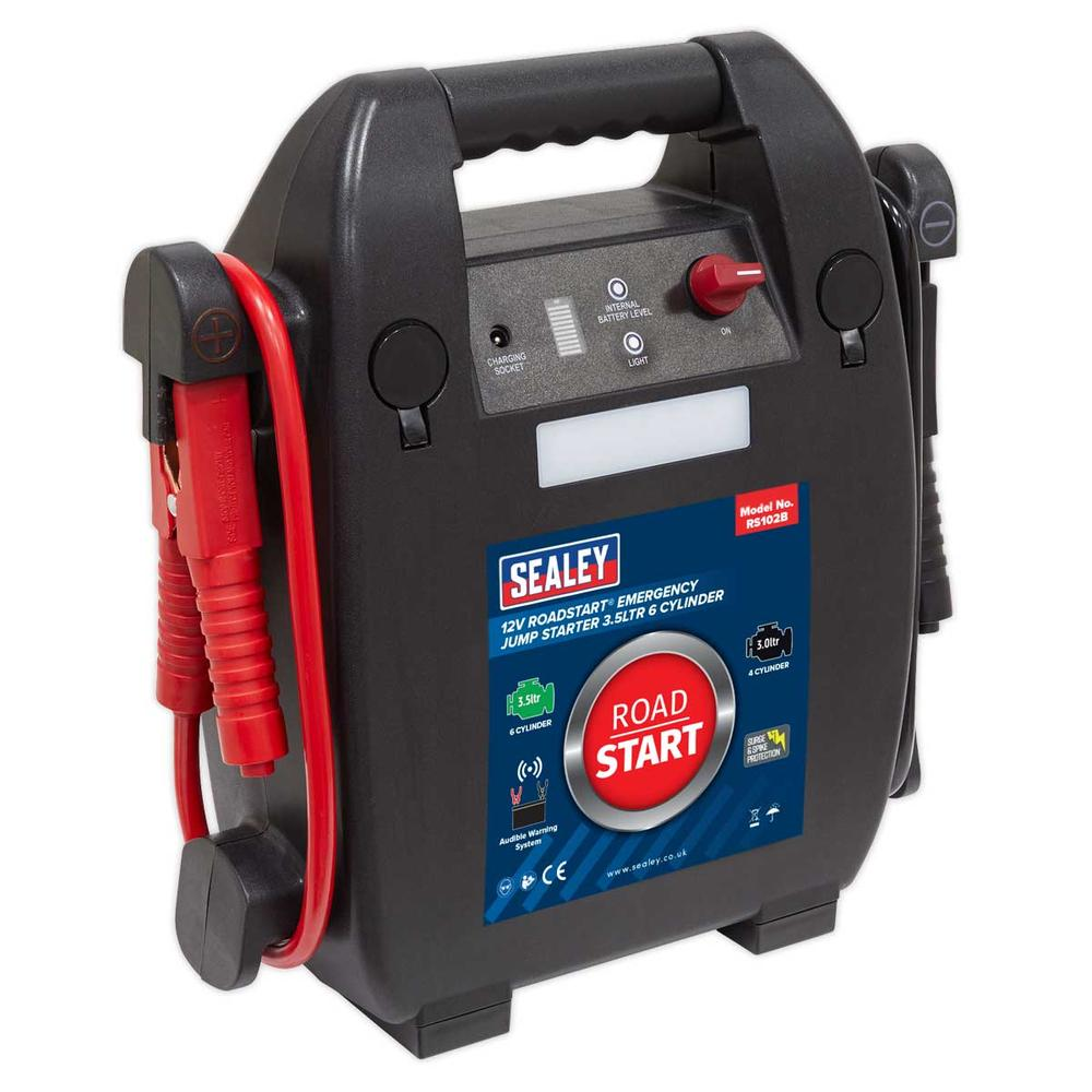 Sealey RS102B RoadStart Emergency Jump Starter 12V 3.5 Litre 6 Cylinder