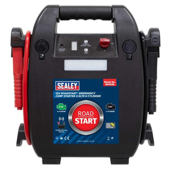 Sealey RS102B RoadStart Emergency Jump Starter 12V 3.5 Litre 6 Cylinder Thumbnail 2