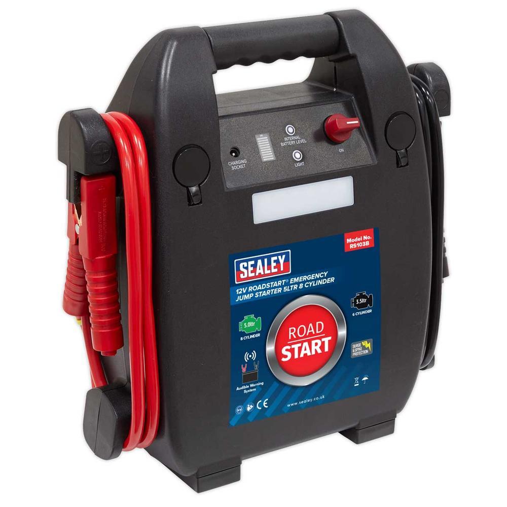 Sealey RS103B RoadStart Emergency Jump Starter 12V 5 Litre 8 Cylinder