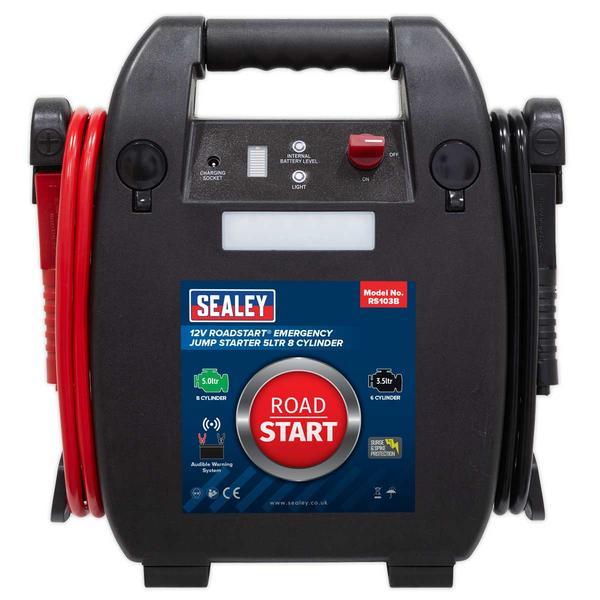 Sealey RS103B RoadStart Emergency Jump Starter 12V 5 Litre 8 Cylinder Thumbnail 2