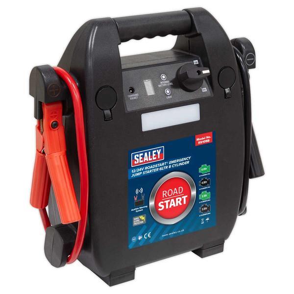 Sealey RS105B RoadStart Emergency Jump Starter 12/24V 6 Litre 8 Cylinder Thumbnail 1