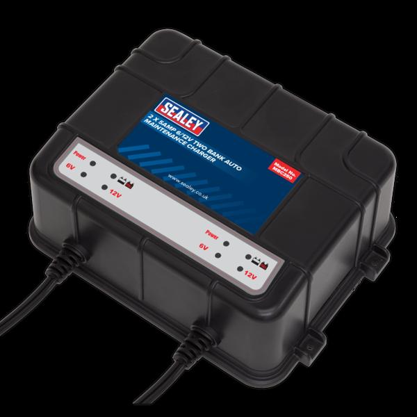 Sealey MBC250 Two Bank 6/12V 10Amp (2 x 5A) Auto Maintenance Charger Thumbnail 3
