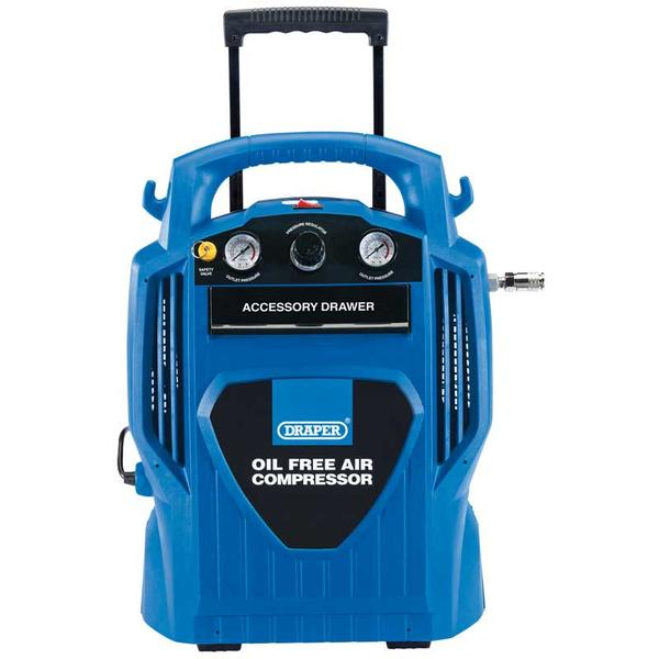 Draper 02116 DA6/181 6L Oil-Free Air Compressor (1.2kW) Thumbnail 1