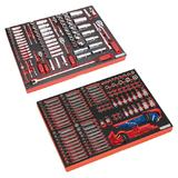 "2 Sealey Tool Trays Socket Set 1/4"" 3/8"" 1/2"" Sq Dr & Specialised Bits Sockets"