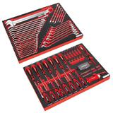 Sealey Premier Tool Tray Kit with 35 Pc Spanner Set and 72 Pc Screwdriver Set