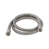 Plumbob  418144 Black / Silver Corrugated PVC Shower Hose