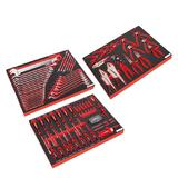Sealey Premier Tool Tray Kit with Spanner Set, Screwdriver Set & Pliers Set