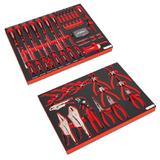 Sealey Premier Tool Tray Kit with 72 Piece Screwdriver Set & 14 Piece Pliers Set