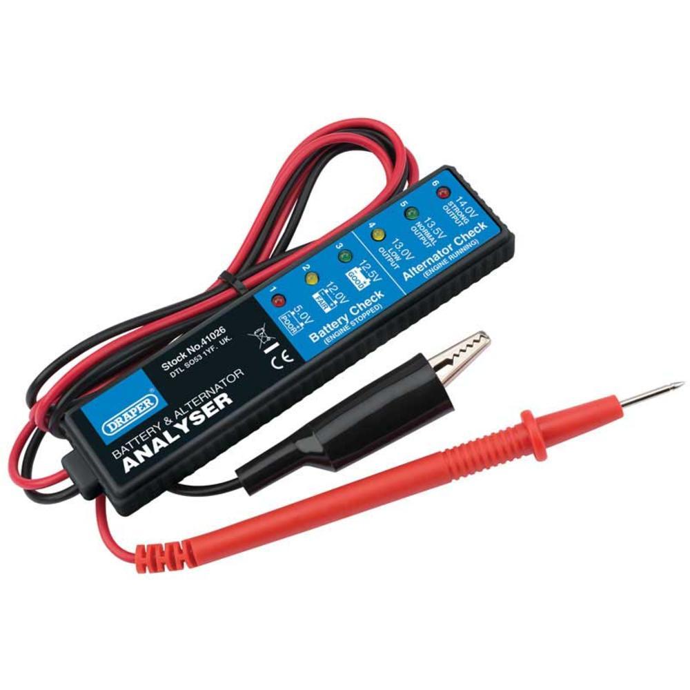 Draper 41026 1176-B Battery and Alternator Analyser for 12V DC Systems