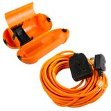 Masterplug 10m One Gang Heavy Duty Garden Extension Lead & Splashproof Housing