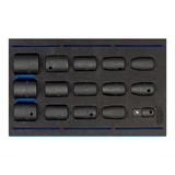"Draper Expert 1/2"" Sq. Dr. Impact Socket Set in 1/4 Drawer EVA Insert Tray (15 Piece)"