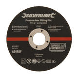 Silverline  292082 Premium Inox Slitting Disc 10pk