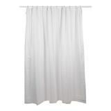 Plumbob  611019 White Polyester Shower Curtain