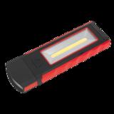 Sealey LED4101RD Magnetic Pocket Light 3W + 0.5W COB LED - Red