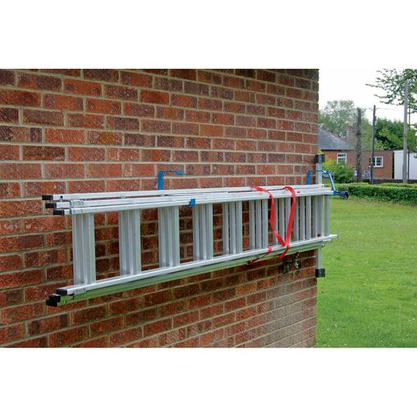 Lockable Wall Ladder Storage Rack Bracket Kit 2 x Headbourne and 2 x Draper Thumbnail 4