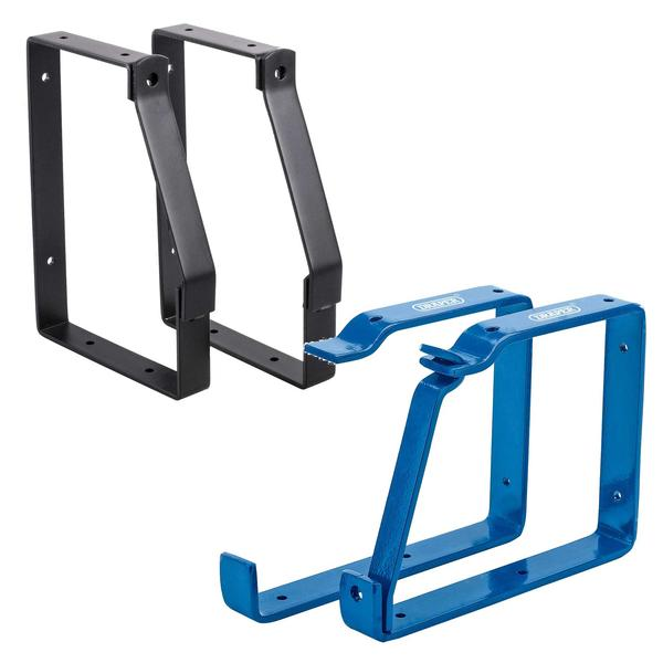 Lockable Wall Ladder Storage Rack Bracket Kit 2 x Headbourne and 2 x Draper Thumbnail 1