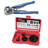 Draper Redline Holesaw Kit with Draper 3 in 1 Automatic Wire Stripper/Crimper