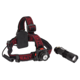 Sealey HT110 Head Torch 3W CREE XPE with Motion Sensor + Hand Torch 3W CREE XPE Twin Pack