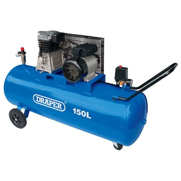 Draper 55305 DA150/369M 150L Belt-Driven Air Compressor (2.2kW) Thumbnail 1