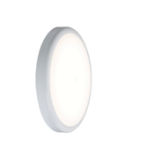Knightsbridge 230V IP44 9W Emergency Trade LED Flush 6000K (256mm)
