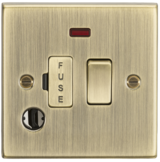 Knightsbridge 13A Switched Fused Spur Unit with Neon & Flex Outlet Square Edge