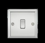 Knightsbridge 10A 1G Intermediate Switch Bevelled Edge Polished Chrome
