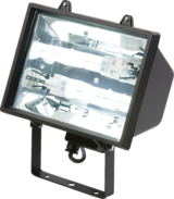 Knightsbridge FL0502BK IP44 PLC Floodlight with 2x26W Tubes Black