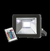 Knightsbridge FLF20RGB 230V IP65 20W RGB LED Black Die-Cast Aluminium Floodlight